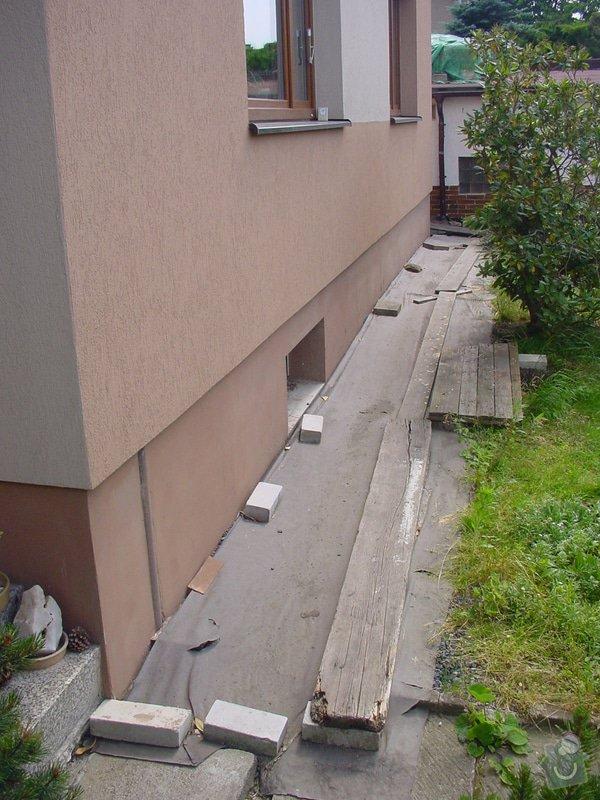 Přípravy pro pokládku dlažby: DSC00001