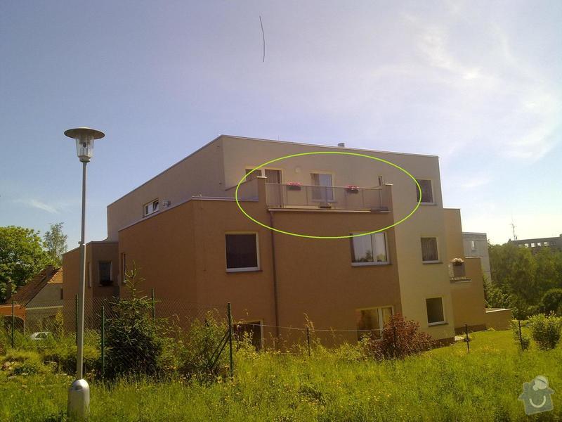 Zastřešení terasy na bytovém domě v patře: 100620144343