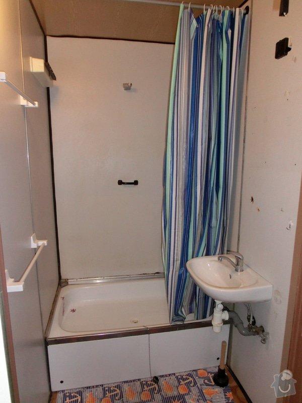 Rekonstrukce bytového jádra bytu 2+kk v panelovém domě: Koupelna