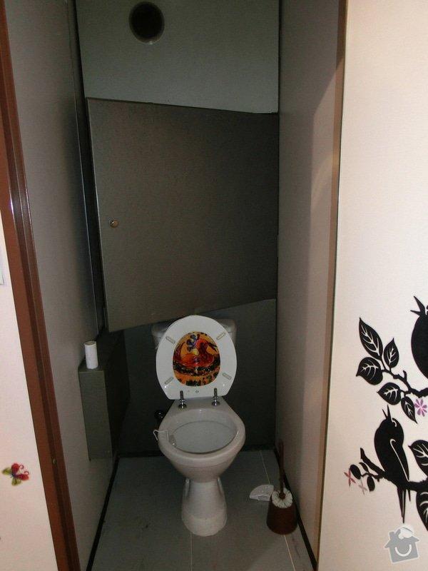 Rekonstrukce bytového jádra bytu 2+kk v panelovém domě: WC