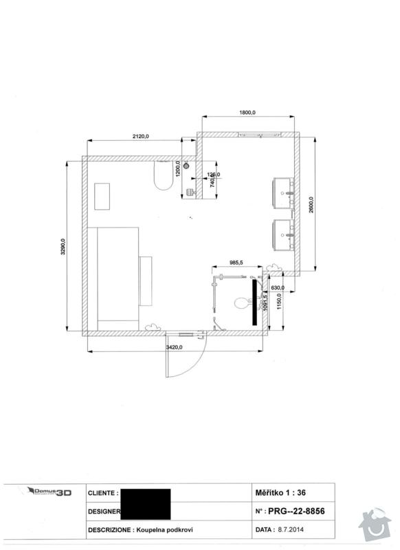 Obklady - koupelna: planek