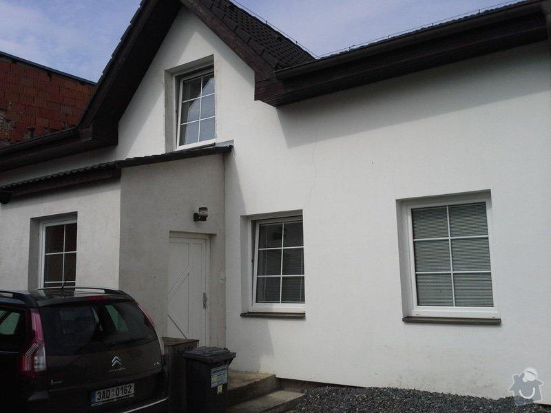 Zednické práce, oprava a nový nátěr fasády RD: 20140722_103511