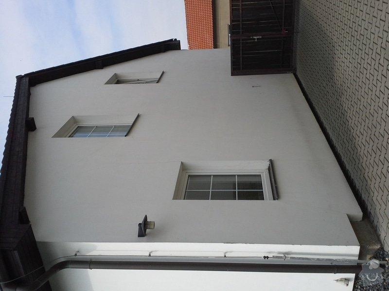 Zednické práce, oprava a nový nátěr fasády RD: 20140722_103521