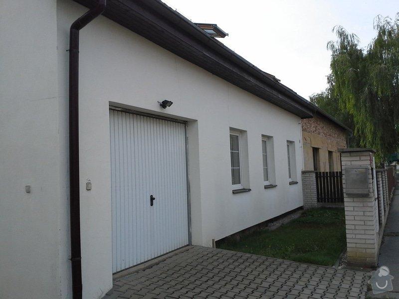 Zednické práce, oprava a nový nátěr fasády RD: 20140722_103544