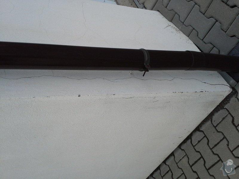 Zednické práce, oprava a nový nátěr fasády RD: 20140722_103556
