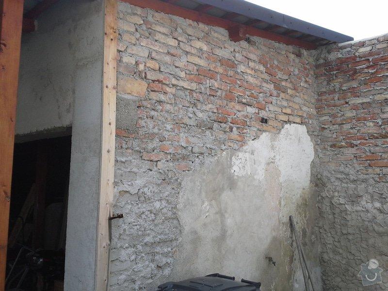 Zednické práce, oprava a nový nátěr fasády RD: 20140722_103701