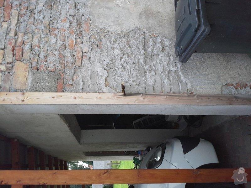 Zednické práce, oprava a nový nátěr fasády RD: 20140722_103744