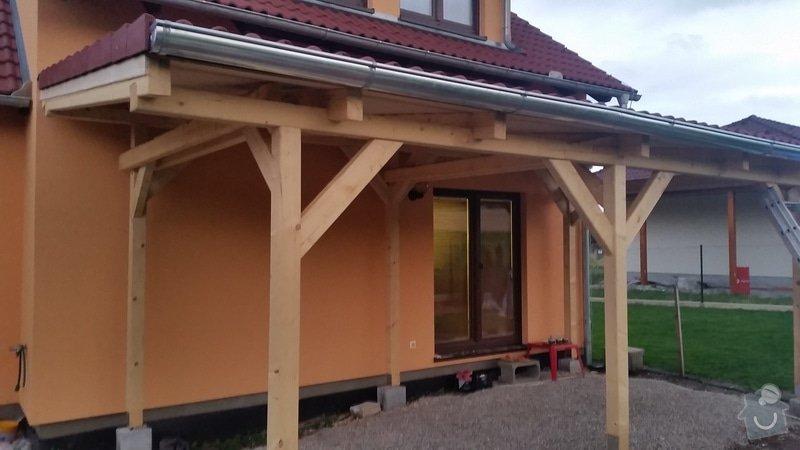 Ztotovení  pergoly nad terasou rozměr  5x3 m. včetně oplechování + střešní krytina - tašky.: 20140709_210332