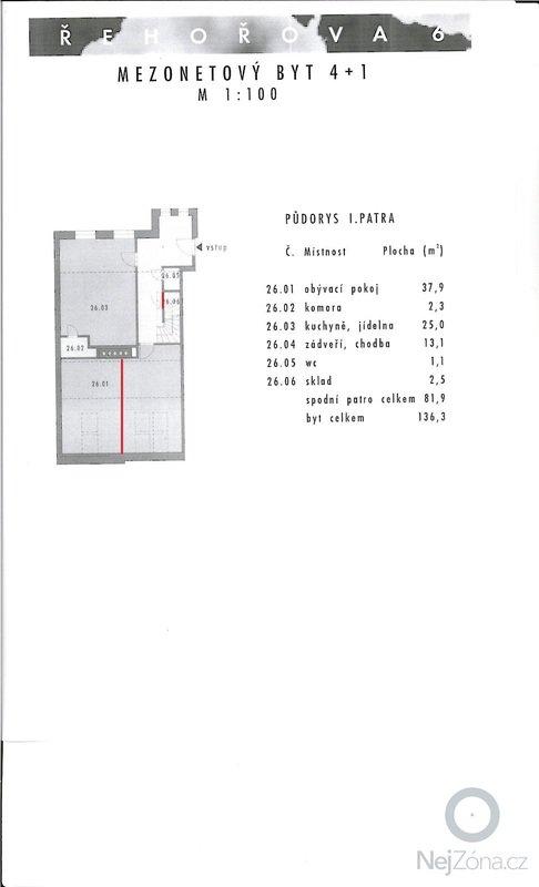 Výstavba sádrokartonové zdi: pudorys_1_patro