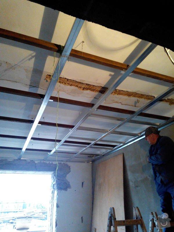 Snížení stropu - sádrokarton (4 pokoje a velká chodba - cca 100m2): nosniky-sadros