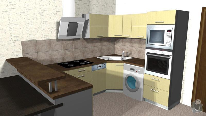 Kuchyňská linka na míru: 3D_-1