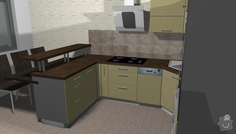 Kuchyňská linka na míru: 3D_-2