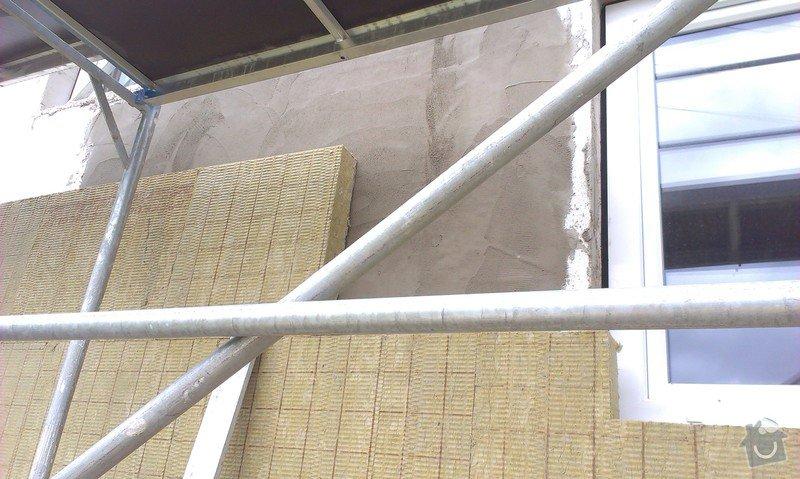 Zhotovení zateplovací fasády minerální vatou: IMAG0764