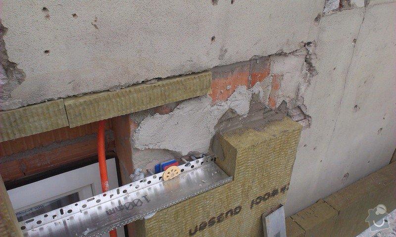 Zhotovení zateplovací fasády minerální vatou: IMAG0770