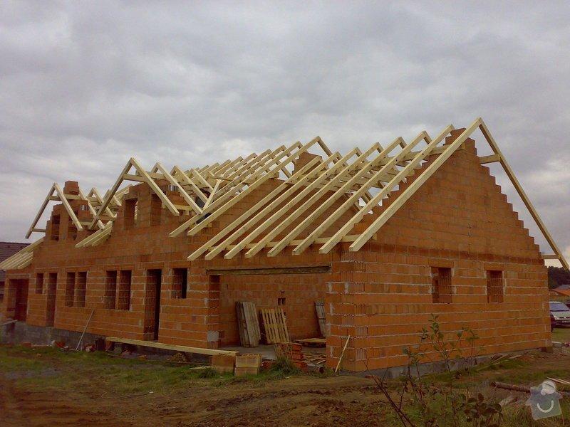 Střecha na klíč - včetně sřešních oken a klempířských prvků: Krov_Beroun