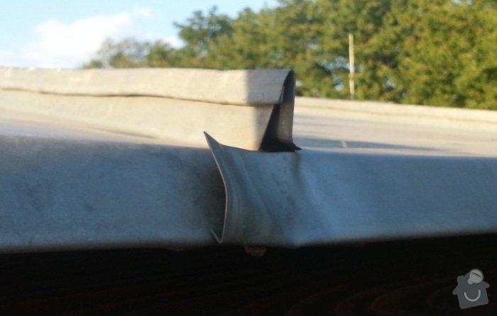 Klempířské práce - oprava průchodu komína střechou: 20140722_193848