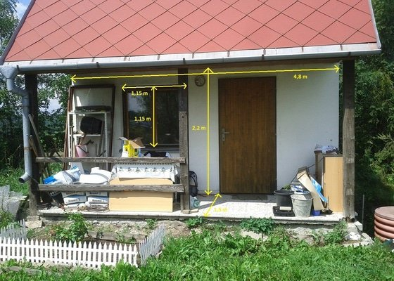 Zednické a instalatérské práce na chatě v Kletné