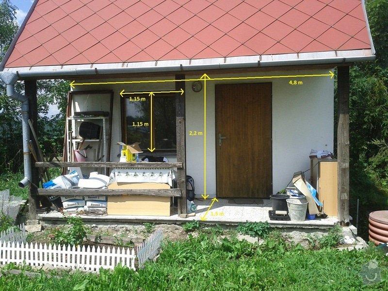 Zednické a instalatérské práce na chatě v Kletné: zed_1