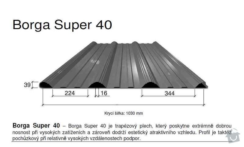 Oprava střechy chaty - do 60 m2: plech_napriklad
