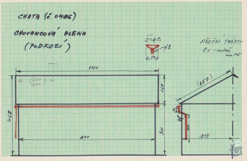 Oprava střechy (výměna eternit za plech): 1