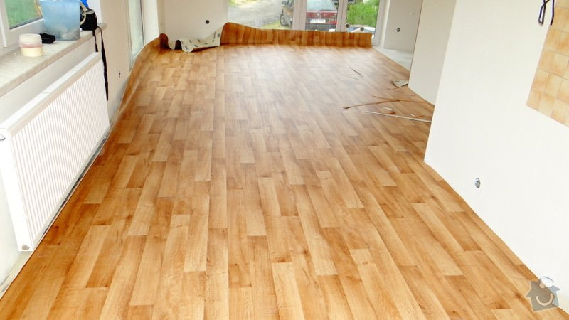 Pokládka vinylové podlahy Tarkett Supreme Plus.: DSC04604
