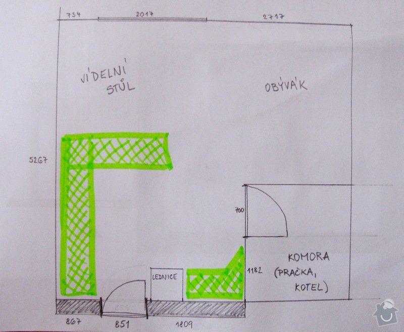 Výroba kuchyně - skříňky, police, pracovní deska: IMG_7712
