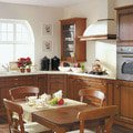 Vyroba kuchyne skrinky police pracovni deska vzhled kuchyne drevo