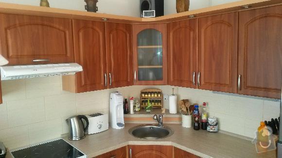 Výroba kuchyňské linky, knihovna nástavba na psací stůl a vestavěná skříň s obložkou a podstropním úložným prostorem: h_4_