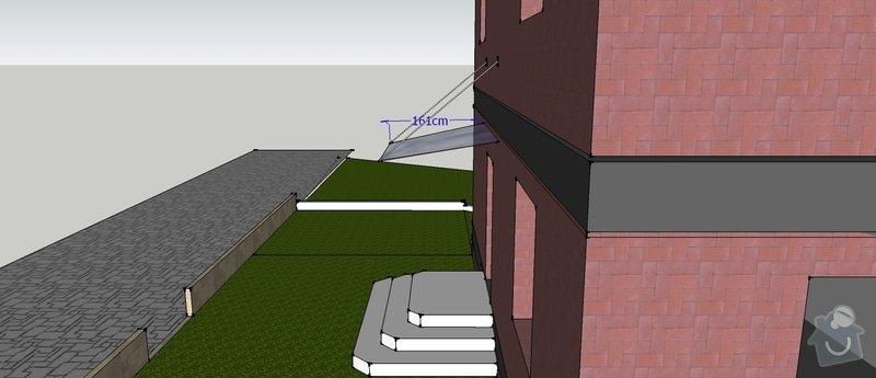 Stříška nad vchodem do RD : Striska_-_vchod_II