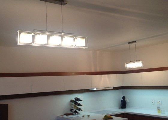 Úprava vypínače a montáž lustru