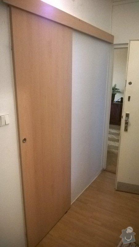 Výměna dveří a čílek na KL, úprava KL, dodání a montáž posuvných dveří: WP_20140530_005