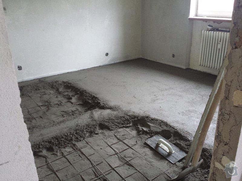 Vyrovnání podlah,výměna topení,sádrokartonové podhledy: 20140730_104530_1_