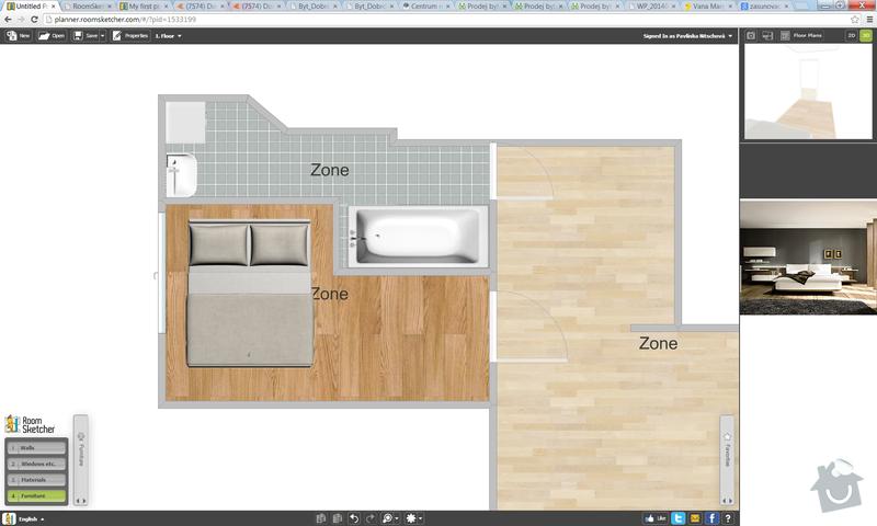 Kompletní rekonstrukce bytu 2+1 Brno: rozvrh-upravy