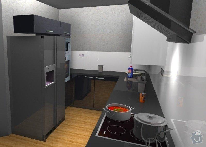 Moderní kuchyň: Cerny_kuchyn_vizualizace1