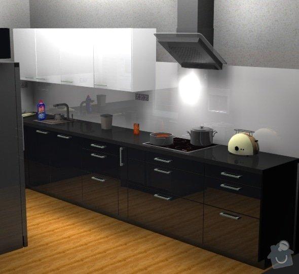 Moderní kuchyň: Cerny_kuchyn_vizualizace2