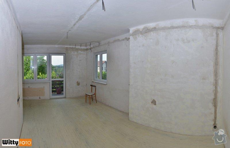 Vyrovnání stěn, podlahy, sadrokartónový strop.: 11WIT_8792_panorama