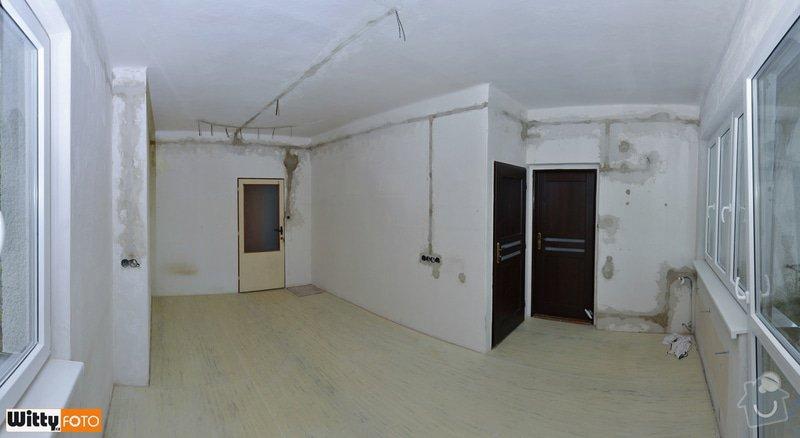 Vyrovnání stěn, podlahy, sadrokartónový strop.: 21WIT_8797_panorama