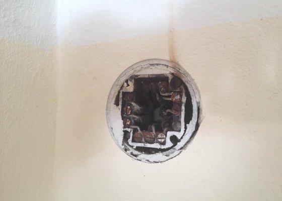 Oprava rozvodu elektřiny / záchrana před vyhořením