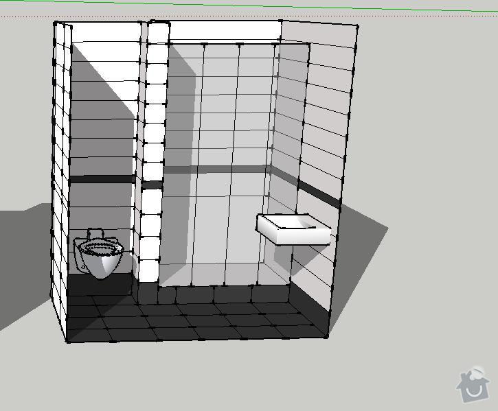 Obklad koupelny a kuchyně: 1