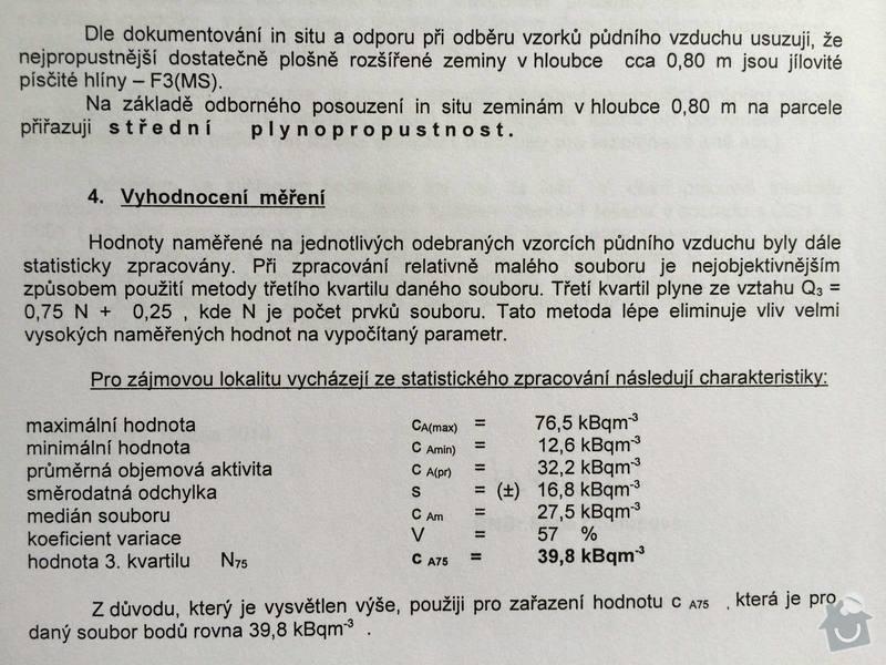 Základovou desku s protiradonovou hydroizolací: Radon2