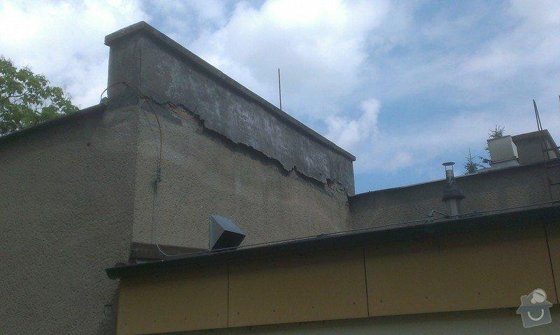 Drobné zednické práce: strecha