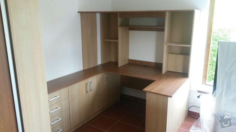 Kuchyňská linka,vestavěná skříň, pracovní kout a úložný prostor: K_11_