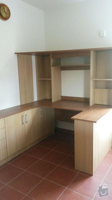 Kuchyňská linka,vestavěná skříň, pracovní kout a úložný prostor: K_14_