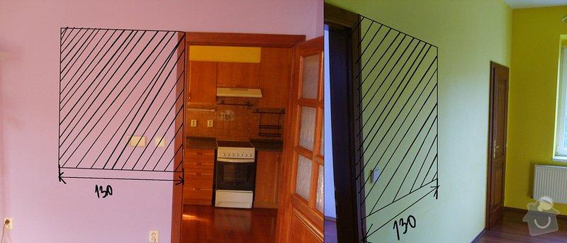 Částečná rekonstrukce bytu 2+1        : kuchyna_vyrez