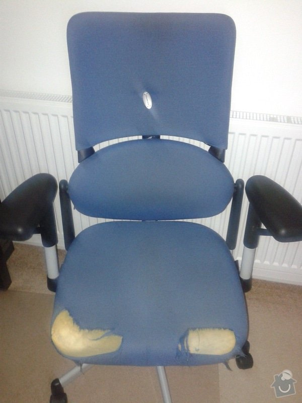 Přečalounění kancelářské židle: 20140806_101306