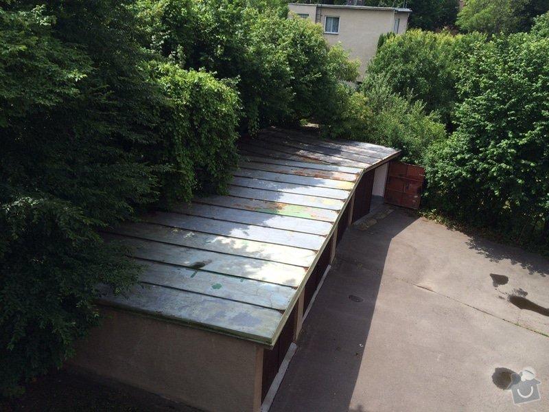 Nátěr střechy: garaz