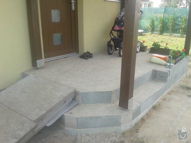 Pokládka venkovní dlažby (cca 8m2) + obklady v koupelně (do 1m2): 20140806_154241