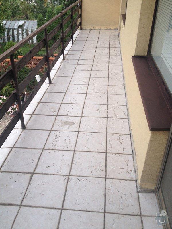 Pokládka Fatrafolu na 2 balkóny: balkon