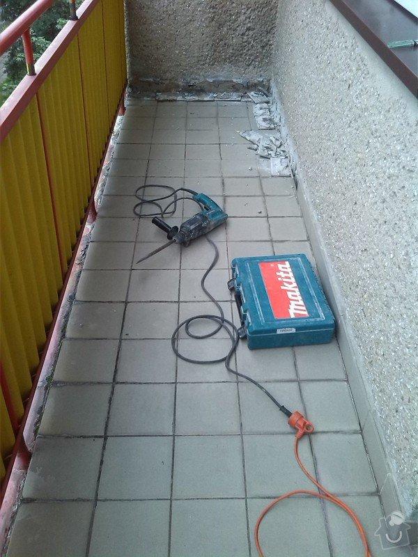 Výměna několika podlahových dlaždic, odstranění starých a pokládka nových dlaždic na balkóně: IMG_20140806_082403