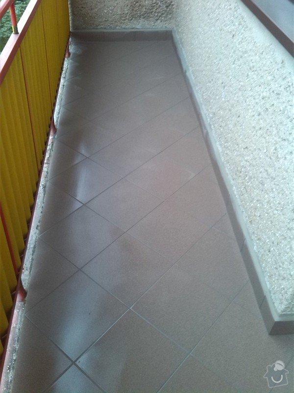 Výměna několika podlahových dlaždic, odstranění starých a pokládka nových dlaždic na balkóně: IMG_20140807_101016